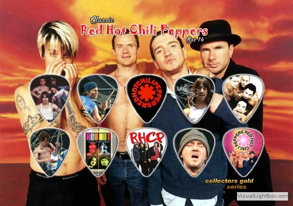 Red Hot Chili Peppers plectrums
